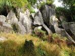 Limestone rock outcrops.Just a few of many that can be explored at Rock Retreat.