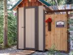 Modern Outhouse year round, warm Out door shower ( in summer) in North Pole / 3 miles (in winter)