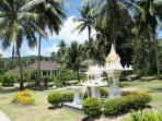 Landscaped central gardens and park,
