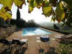 Vedi Torre view from to pool to the Tuscan hills