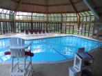 Indoor heated pool,located in the clubhouse.Pool hours and days change from seasons.read my listing