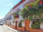 Flower-filled balconies in Arriate