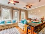 Casa Belleview features beach decor with colors inspired by Santa Rosa Beach