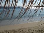 Beautiful, sandy Krios beach outside your door!