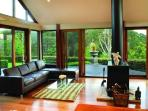 Lounge room with picturesque views of Kangaroo Valley