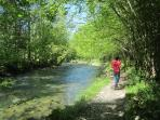 There are gentler strolls alongside incredibly clear rivers (this is in the Ustou Valley)