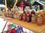 handmade, natural products: tea, syrup, soap, liqueurs, shoes from sheep's wool,...