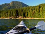 Kayaking into Denham Bay