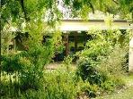Our 3 BR Pet Friendly Visitors Cottage in our old established garden.