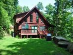 Morning Sun Retreat and Guesthouse – Enjoy Mountain Privacy at this All-Wood Cabin with Fire Pit, Wi-Fi, and Xbox 360. The additional Guest House has a Pool Table, Large Screen TV and sleeps 2 more!