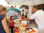 The Najac market, where you can taste and buy outstanding local produce directly from the farmers.
