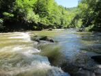 The Viaur river, one of the wildest and cleanest in France. is ideal for swimming in summer.