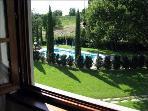 Vista del giardino dalla piscina