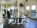 fully equipped exercise room just off the pool area