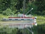 Optional pontoon boat