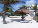 Beach directly infornt of Caribbean Reef Villas