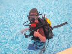 Dive courses are available for adults and children aged from around 8yrs (depending on ability)
