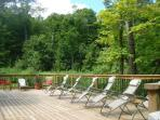 Huge private deck is perfect for all day sun