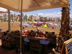 Take lunch overlooking Puerto de Mazarron town beach