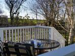 View towards the sea from decking.