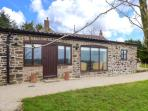 GREENHILLS FARM, barn conversion, ground floor, parking, patio, in Ipstones
