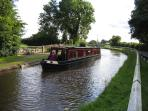 Passing the Dusty Miller Pub Wrenbury.