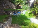 giardino terrazzato area relax