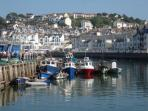 The picturesque fishing port of Brixham - regular ferries from Torquay.