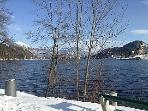 Lake Bled in the snow. Wonderful walks or visit the ski slope if you're more energetic.