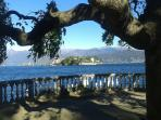 Isola bella from boulevard in stresa