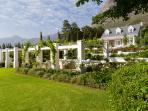 The Loft gardens and mountain views