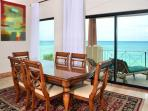 Open-concept dining area with ocean views too