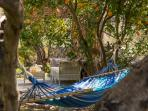Relax on a hammock under the shade of Orange and Olive trees