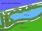 Location of Sunset Vista Lakeside Villa on the gated Sunset Lakes community