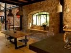 The Dining Room area for four overlooks the beautiful desert garden