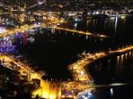 Alanya harbour at night