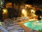 Terrace with sun beds Free outlook, privacy, very quiet, south west facing