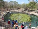 Cenote at nearby Mayan site Dzibilchaltun