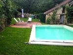 Garden area with pool
