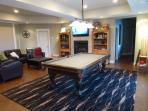 Private living & pool table area
