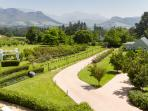 You are surrounded by mountain views at Farm Lorraine
