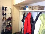 Boot room in garage with 10 pair air dryer for boots & gloves (timer operated)