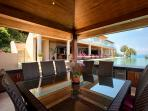 Beautiful poolside sala, ample seating for all