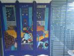 Verandah art murals.