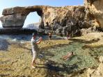 Azure Window, near Dwejra Bay on the Inland Sea (approx 8 km from Fort Chambray)
