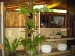 A view of the 2nd garden bath In Bungalow Melati.