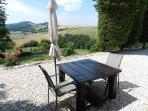 Het zonneterras inclusief uitzicht van 'Rosa nel Pozzo'