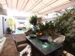 The private patio