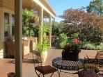 Sunny deck and verandah
