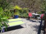 Back deck looking onto creek valley